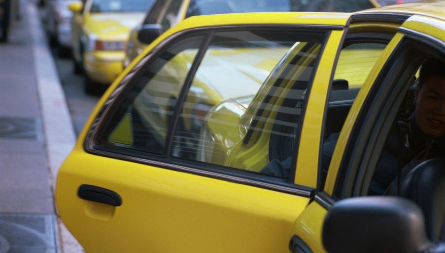 Open taxi door