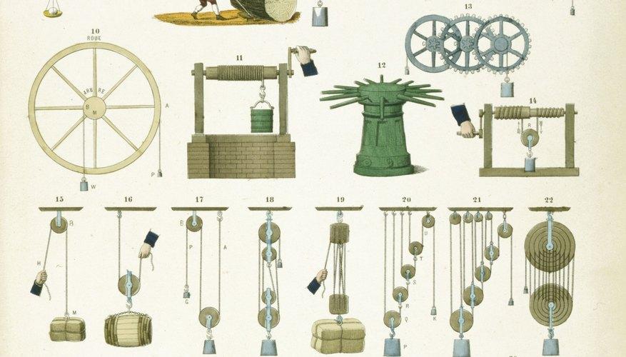 Las palancas y los planos inclinados son ejemplos de mecanismos simples.