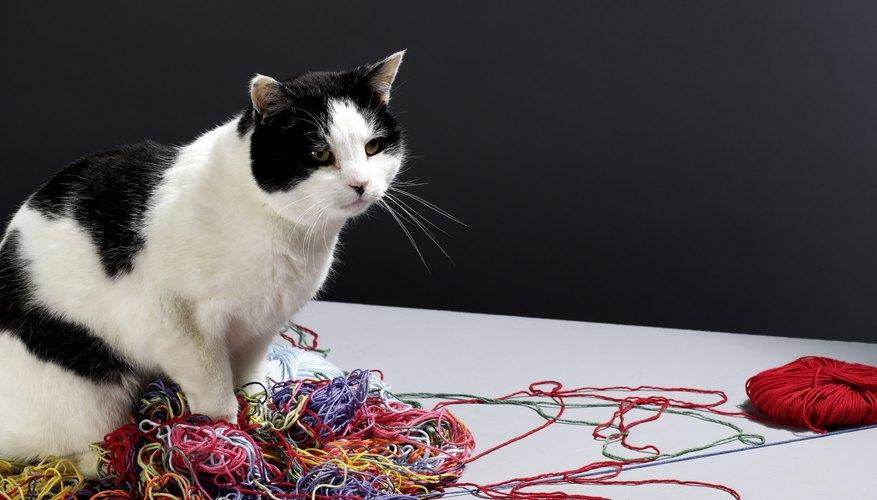 Considera usar materiales como algodón perlado, lana persa o hilos para tapicería.