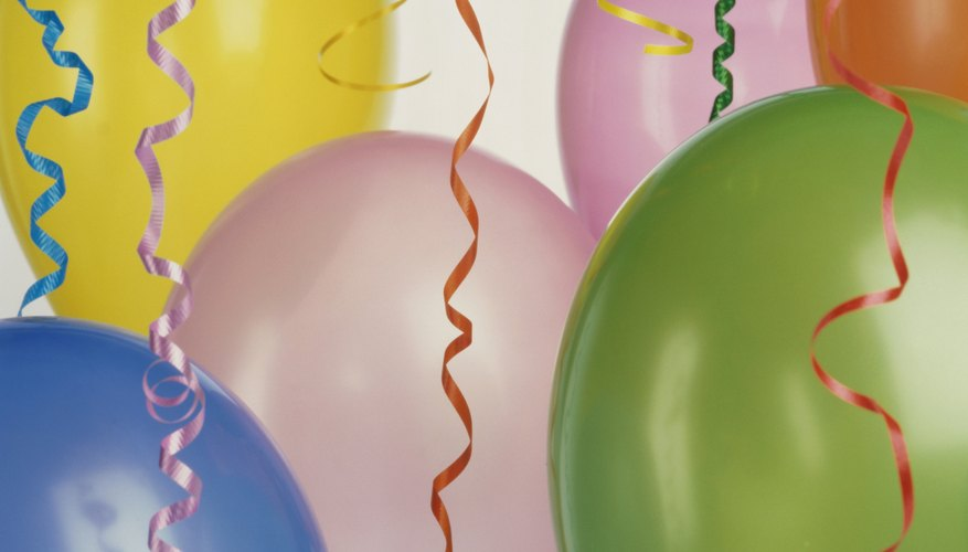 Streamers and balloons are good props for air-related activities.