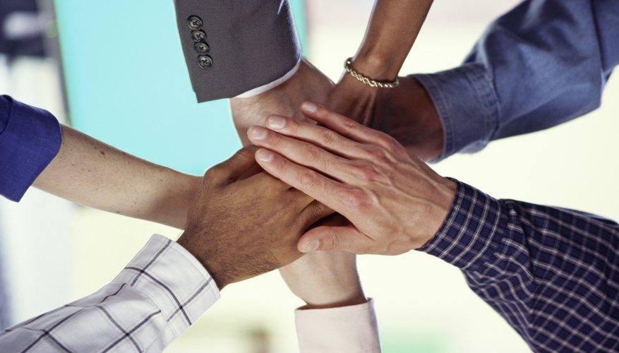 Hands united together