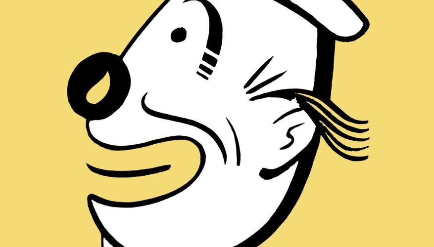Crea la boca sonriente dibujando una forma de U elongada a cada lado de la nariz.