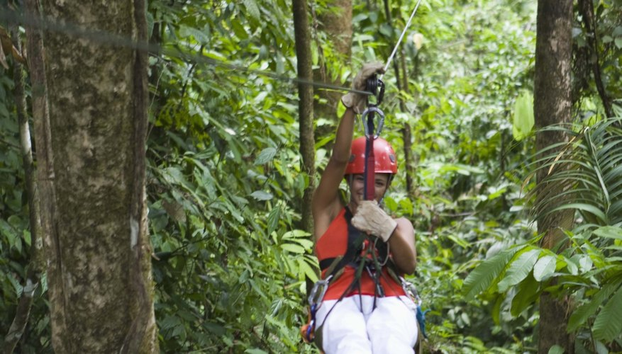 Zip lining is a fun activity for teen birthday parties in Maryland.