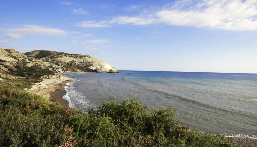 A view of the mediterranean sea in Cyprus, Greece.