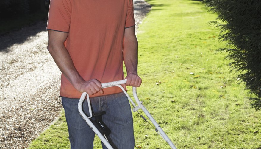 Self-employment can be as simple as mowing neighbors' lawns for money.