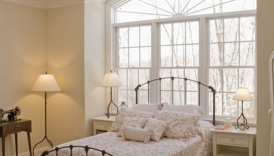 A ruffled pillow sham is perfect in a country-style bedroom.
