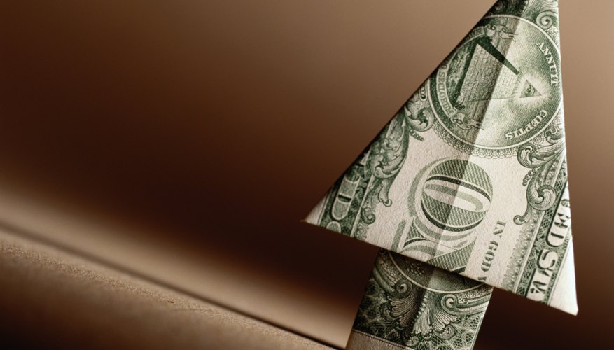 Use a dollar bill in place of origami paper to fold a flower or other shapes.