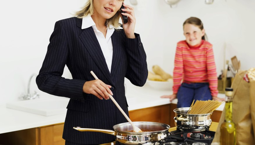 Balancing a career and child care is stressful when children are young.