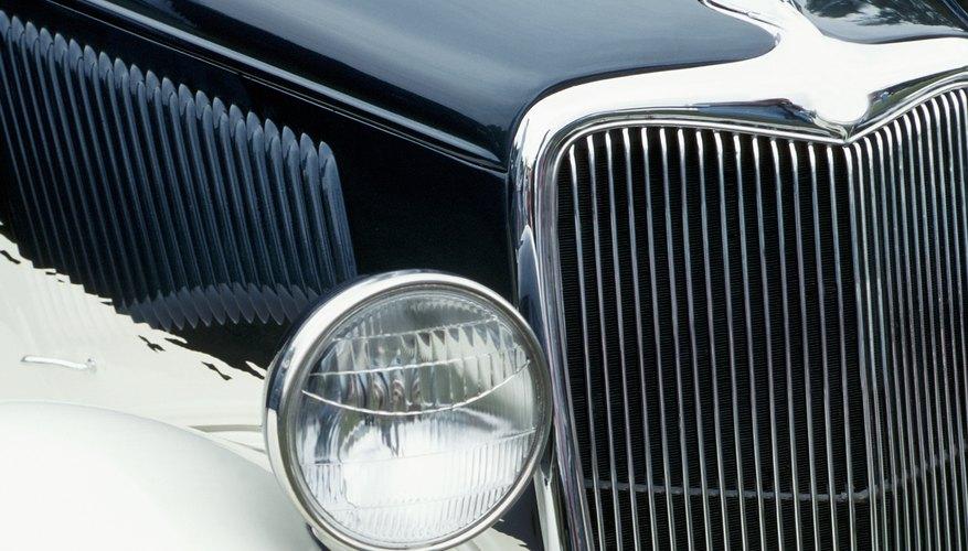 Detail of a vintage car
