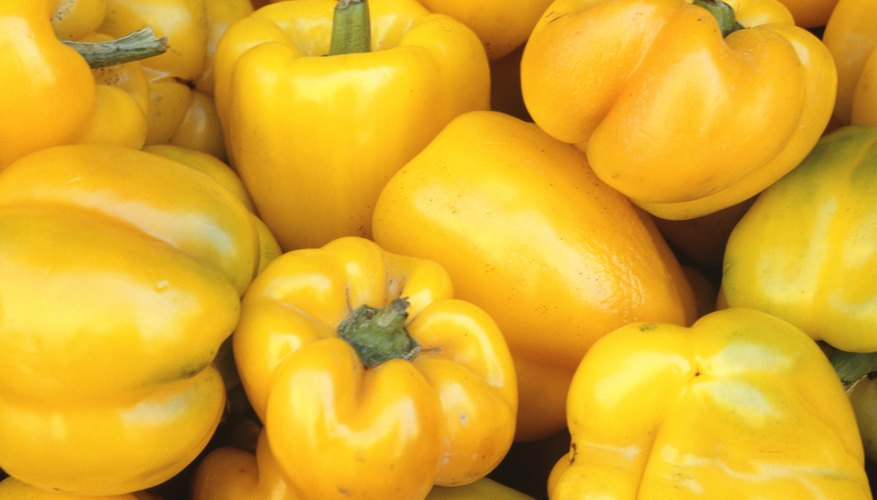 Yellow bell peppers.