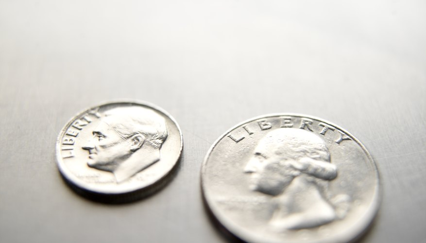 Quarter size compared with a dime.