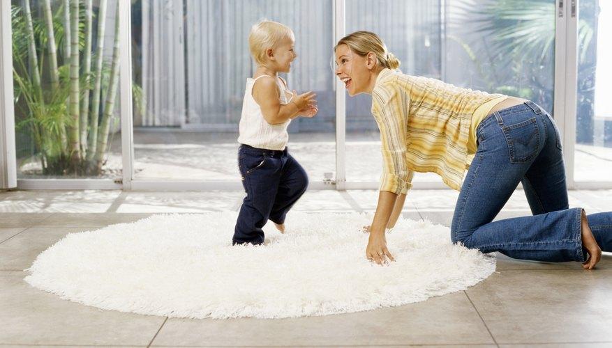 Las alfombras pueden definir áreas específicas de juego.