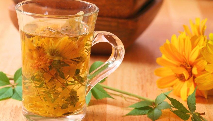 Cup of marigold tea