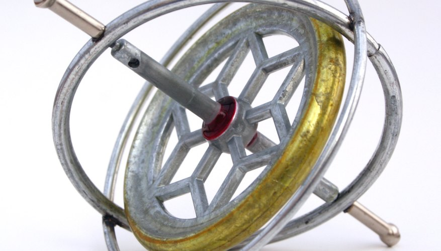 Most gyroscopes have three rings, or gimbals, around the center that help to isolate the center rotor from torque effects.