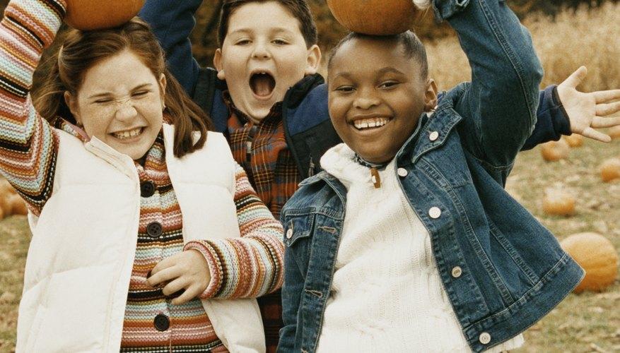 No importa si es en casa o en el exterior, los niños están seguros de disfrutar una fiesta de la cosecha