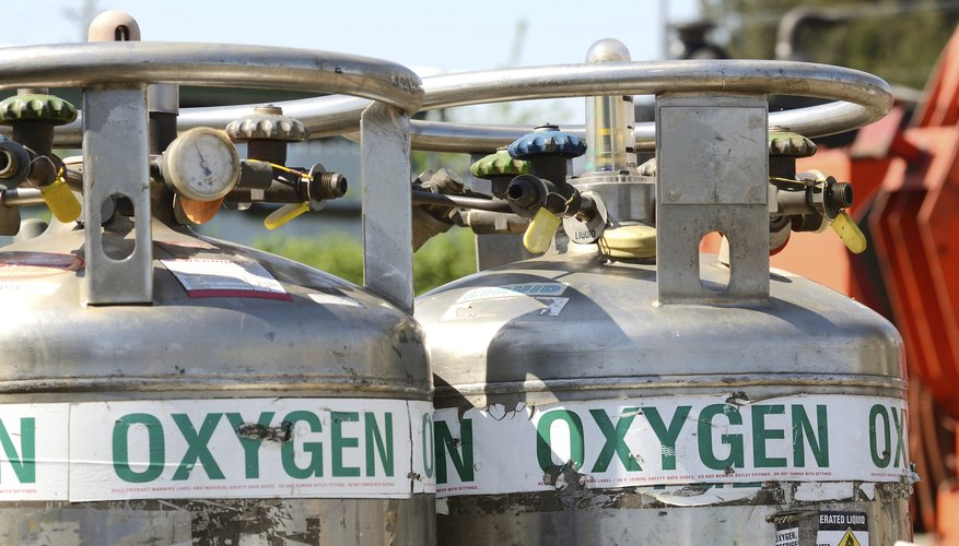 A pair of oxygen tanks.