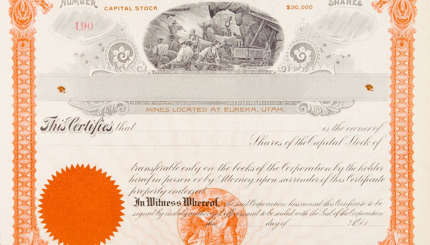 Stocks are issued as book entry shares or as paper certificates.