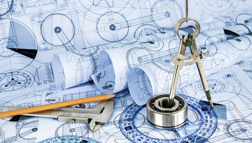 Technical drawings of circles