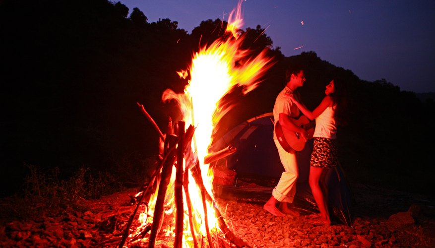 Enhance your romantic bonfire evening with a little dancing in the dark.