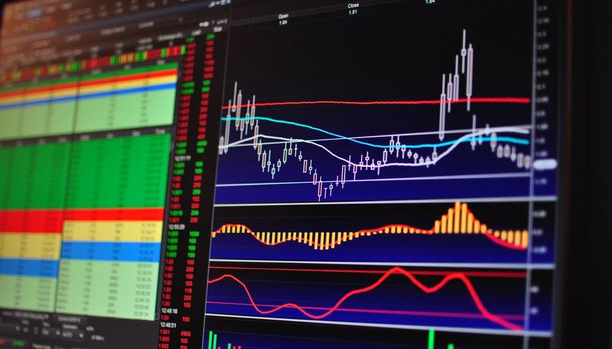 A active stock trader's computer screen