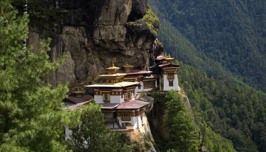 There are many Buddist monastaries in the Himalayas.