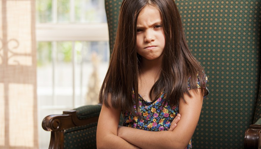Look for physical cues that indicate your child is about to lose her temper.