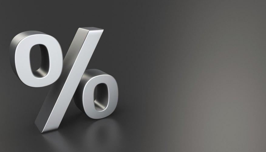 Percent on black