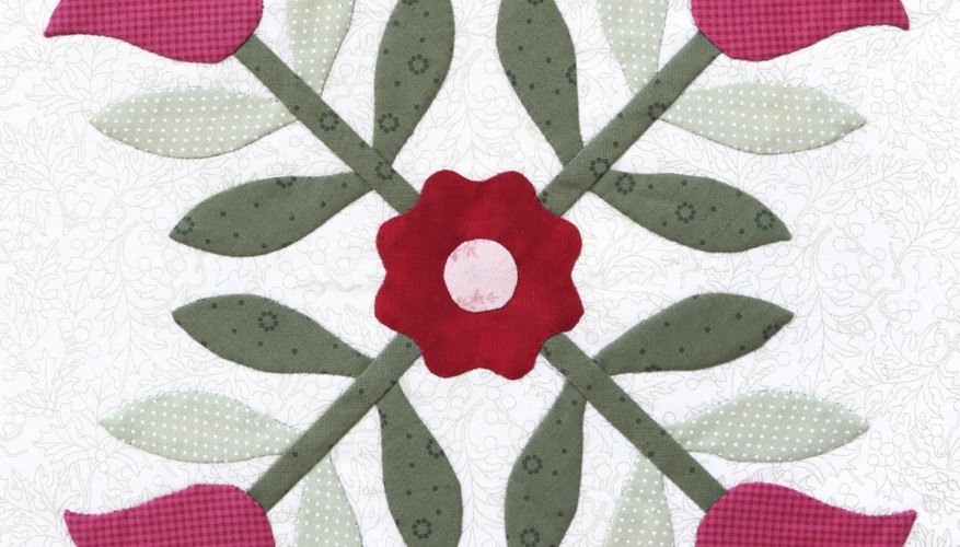 Applique techniques are often used in quilts.