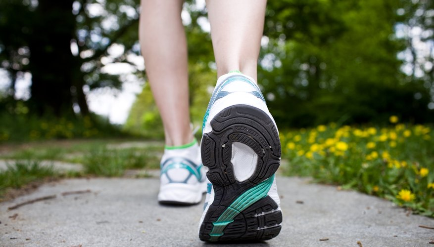 Wear comfortable walking shoes to minimize the pain.