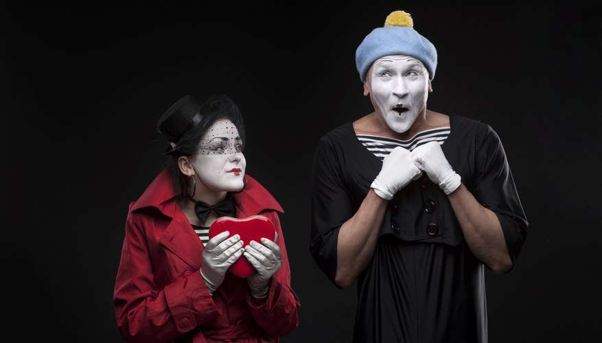 Mimes on stage