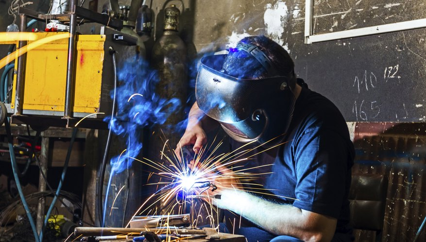Welder in the workshop