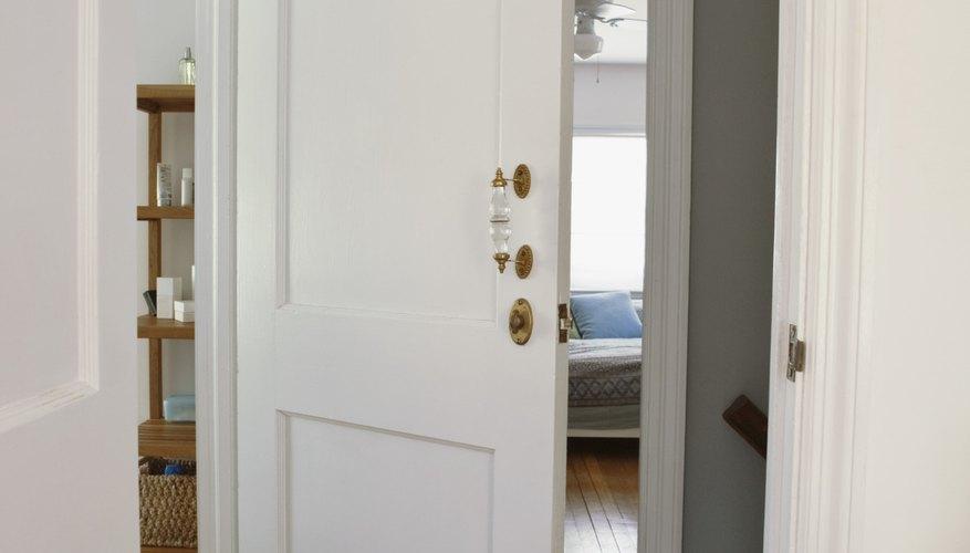 Open door and hallway