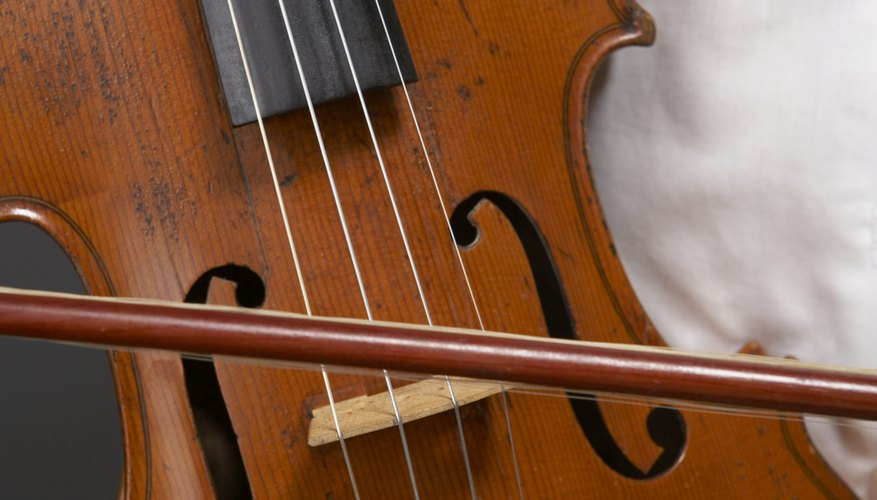 The violin is part of the stringed instrument family.
