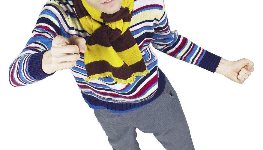 Trabaja de esta manera hasta que las medidas de la bufanda sean de 50 pulgadas (1,27 mt) de largo.