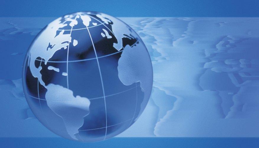 La topografía del mundo varía de región a región.