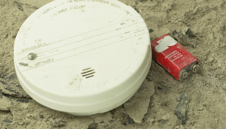 9-volt batteries are often used in smoke detectors.