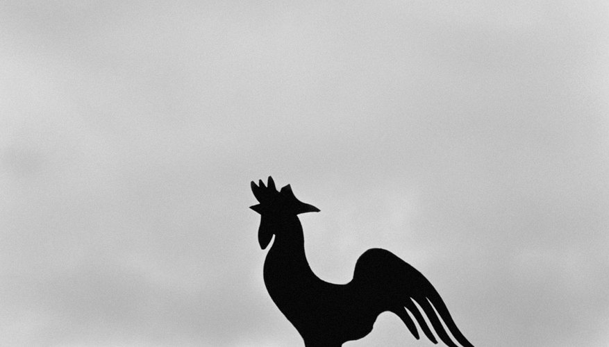 The classic rooster-shaped wind vane still adorns many churches and farmhouses.