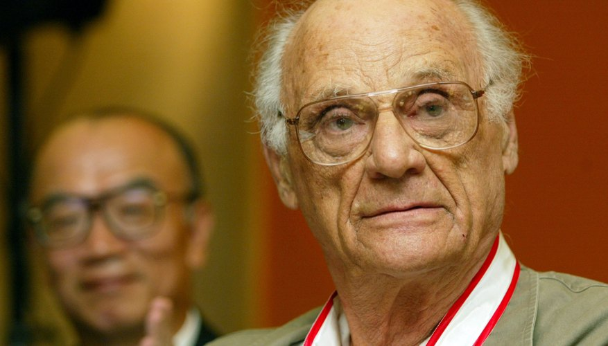 Playwright Arthur Miller received a life-time achievement award from the Japan Art Association in 2002.