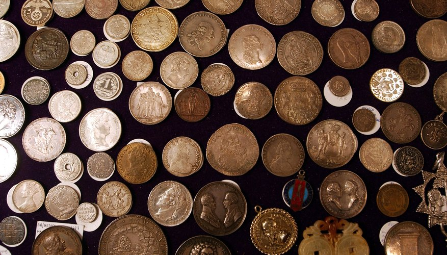 17th to 20th century european coins on display