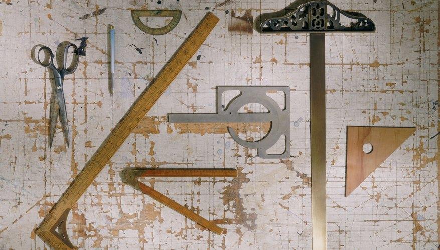 Varias herramientas de dibujo.