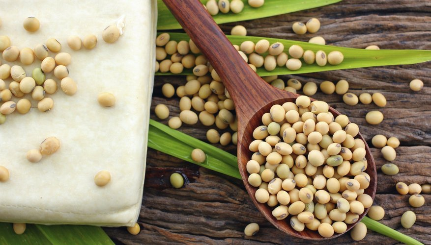 Soybeans and tofu.