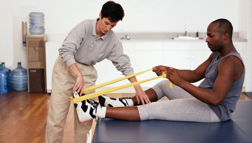 Los terapéutas ayudan a sanar lesiones.