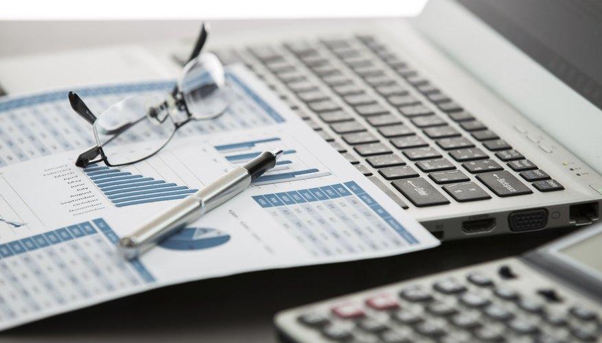 Businessman analyzing investment charts
