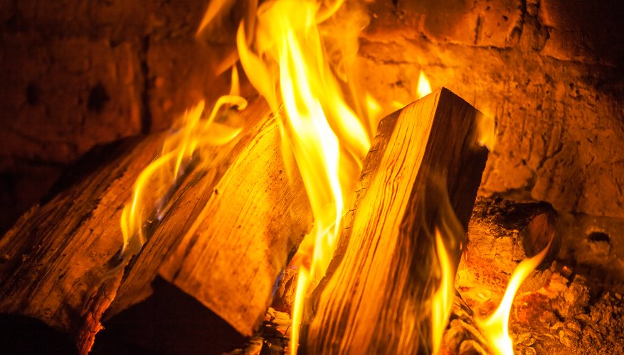 what is the gas emitted when burning wood sciencing
