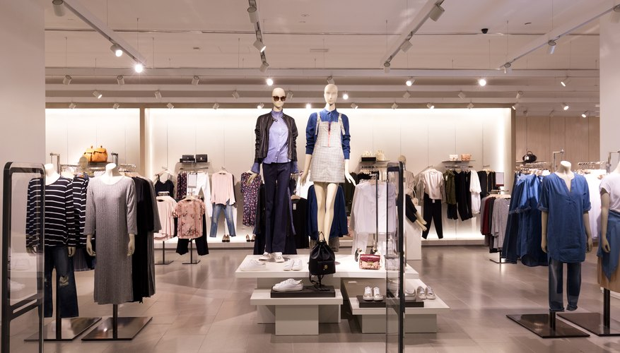 interior of modern fashion shop