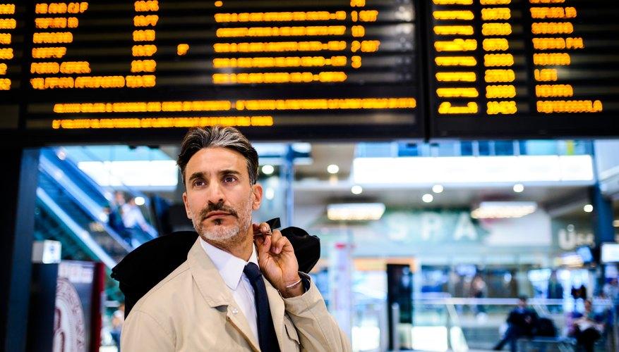 Businessman traveling.