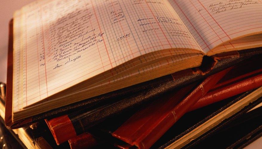 El libro mayor de contabilidad
