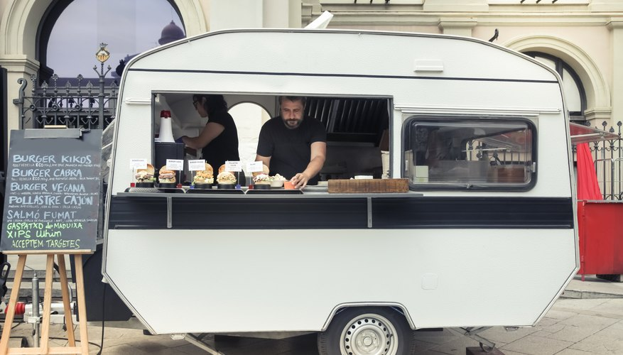 Food truck in the city