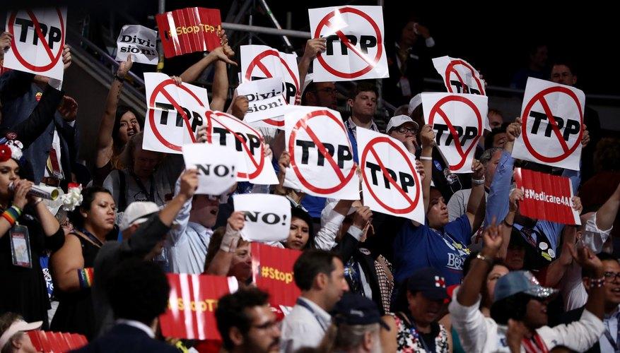 Protestas en contra del Acuerdo Transpacífico de Cooperación Económica (en inglés: Trans-Pacific Partnership, TPP)
