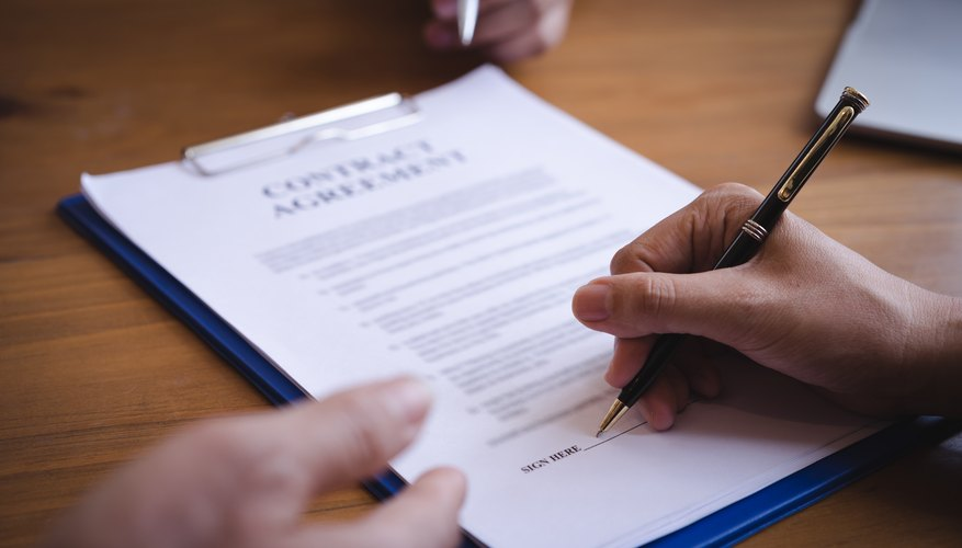 Types Of Contract Agreements Bizfluent